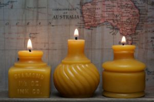 Pretty Handmade Beeswax Candles