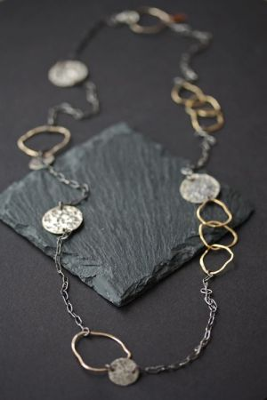 Versatile Silver and Gold Chain Necklace